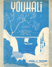 """Youkali"" sheet music cover"