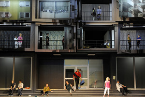 """Street Scene"" at Dresden Semperoper. Photo: Matthias Creutziger"