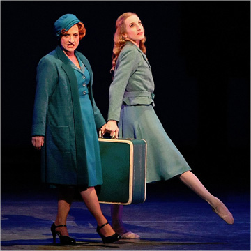 "Patti LuPone and Wendy Whelan in ""The Seven Deadly Sins"" at New York City Ballet. Photo: Paul Kolnik"