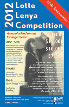 2012 Lotte Lenya Competition