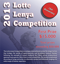 2013 Lotte Lenya Competition