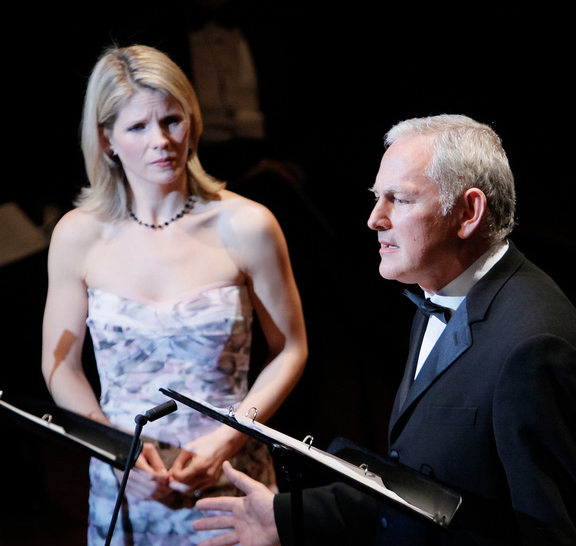 "Victor Garber sings ""September Song"" to Kelli O'Hara in ""Knickerbocker Holiday."" Photo: Collegiate Chorale"