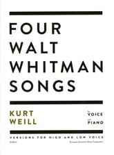 Four Walt Whitman Songs by Kurt Weill