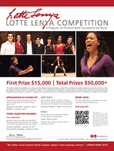 2015 Lotte Lenya Competition