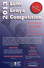 2013 Lotte Lenya Competition