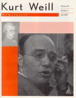 Kurt Weill Newsletter 29.2
