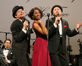 Henry Stram, Anika Noni Rose, and Martin Moran in The Cradle Will Rock, Encores! Off-Center